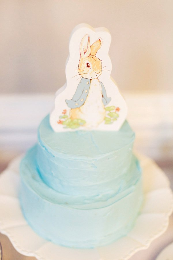 peter rabbit first birthday cake