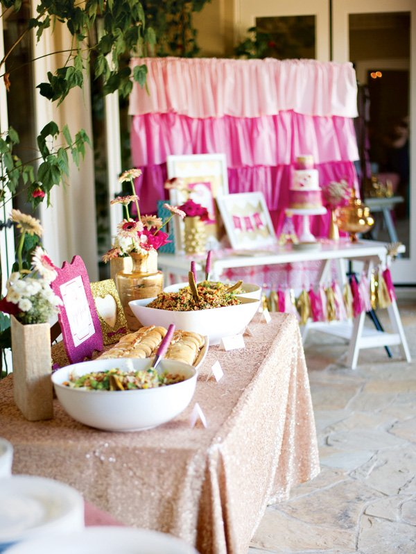 Pink Glitter Amp Gold Royal Baby Shower Part 2 Food