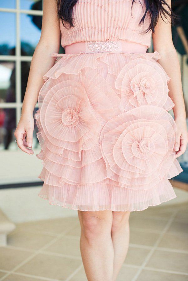 Ruffled blush dress