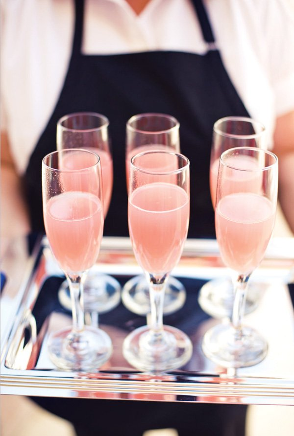 pink bridal shower cocktails