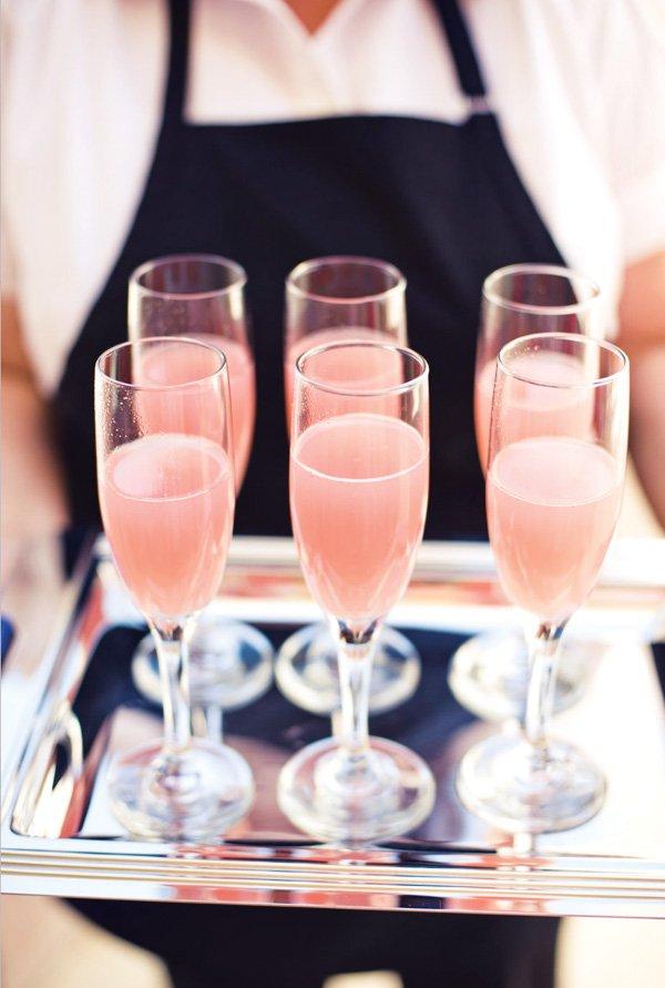 pink bridal shower cocktails