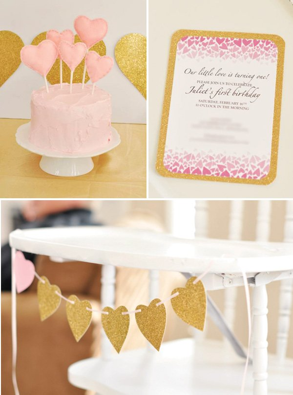 pink heart cake topper