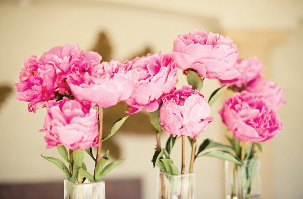 pink peony floral arrangements