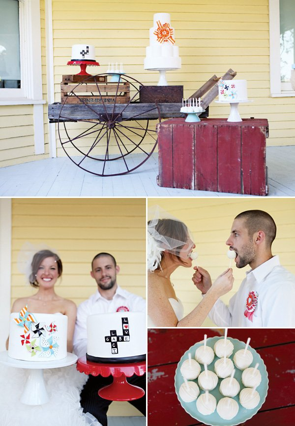 Playful wedding cakes