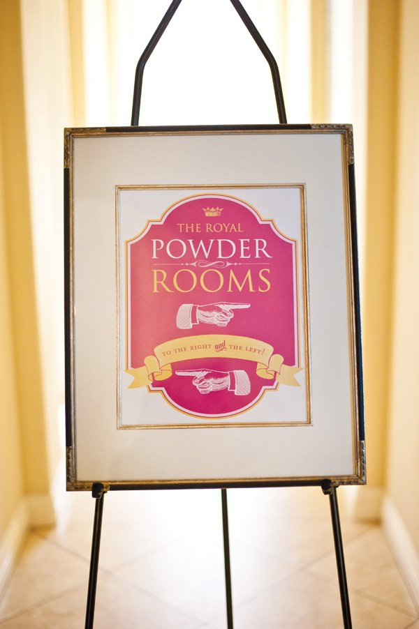powder room printable sign