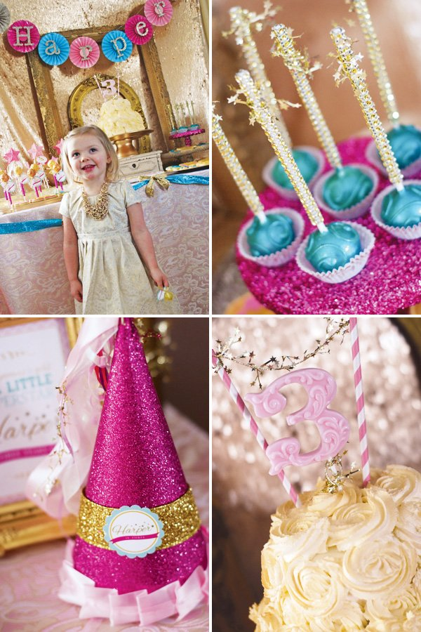 pretty sparkle third birthday