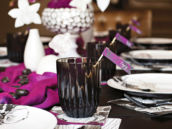 purple and black table ideas