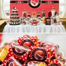 rockabilly dessert table