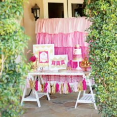 pink baby shower by hostess with the mostess