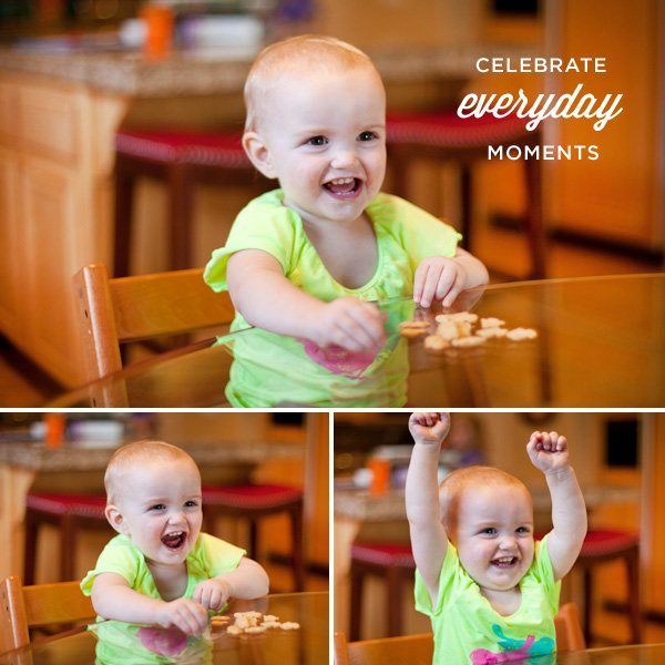 celebrate everyday moments - happy baby