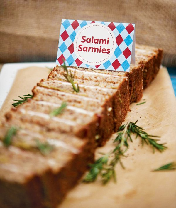 sandwiches for a first birthday party