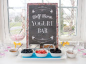 self serve yogurt bar