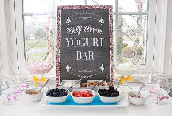 self serve yogurt bar
