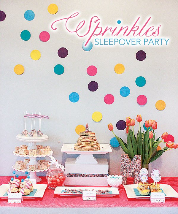 sprinkles dessert table