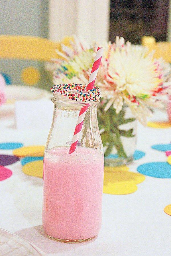 sprinkle milk