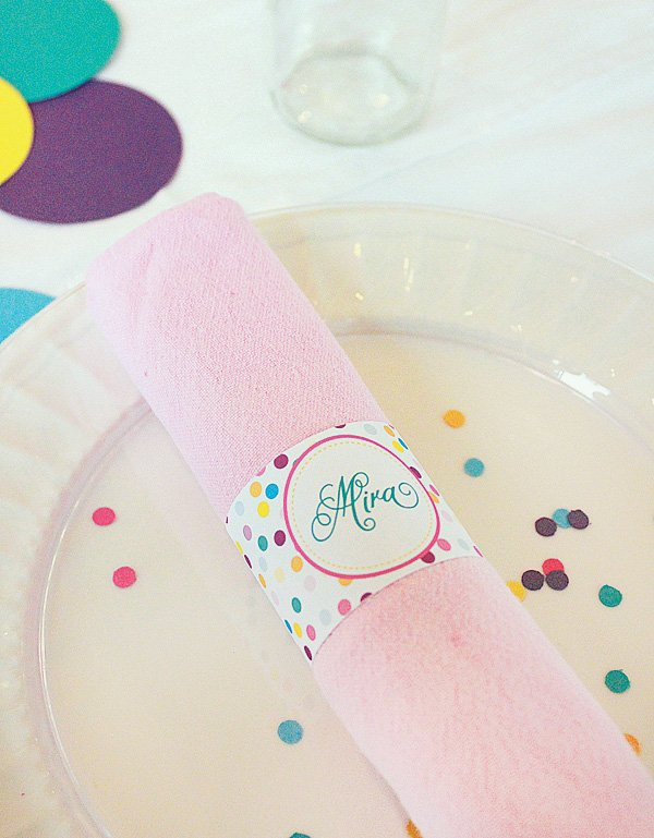 sprinkle party napkin rings