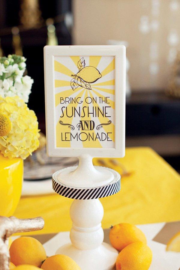sunshine and lemonade free printables