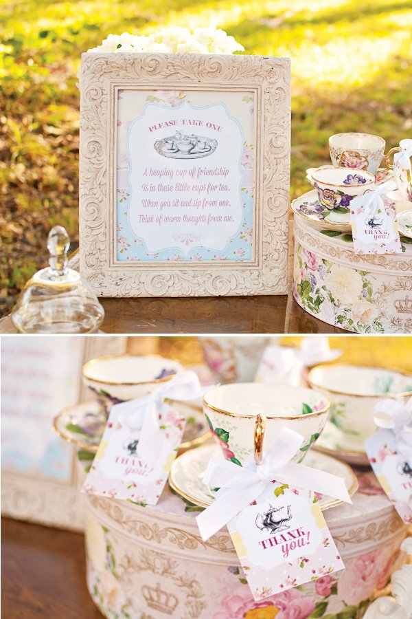teacup party favors