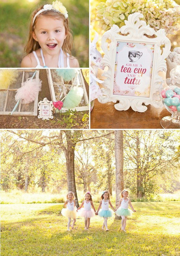 teacup party sign