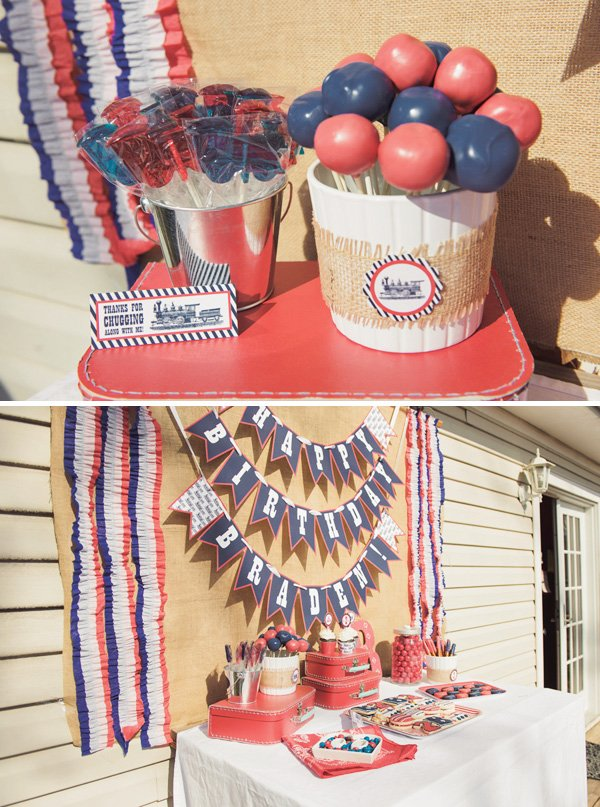 Red and Blue Birthday Party