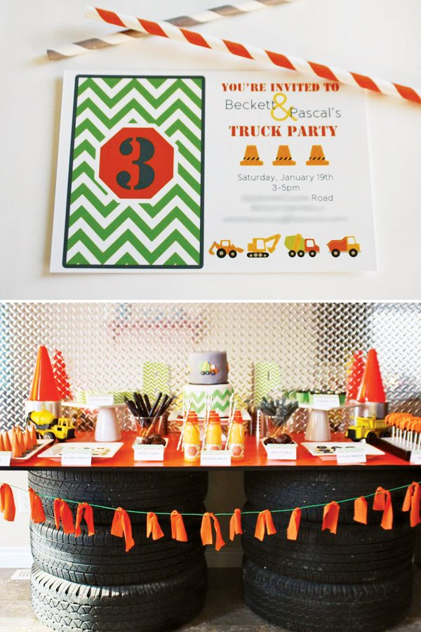 truck party dessert table