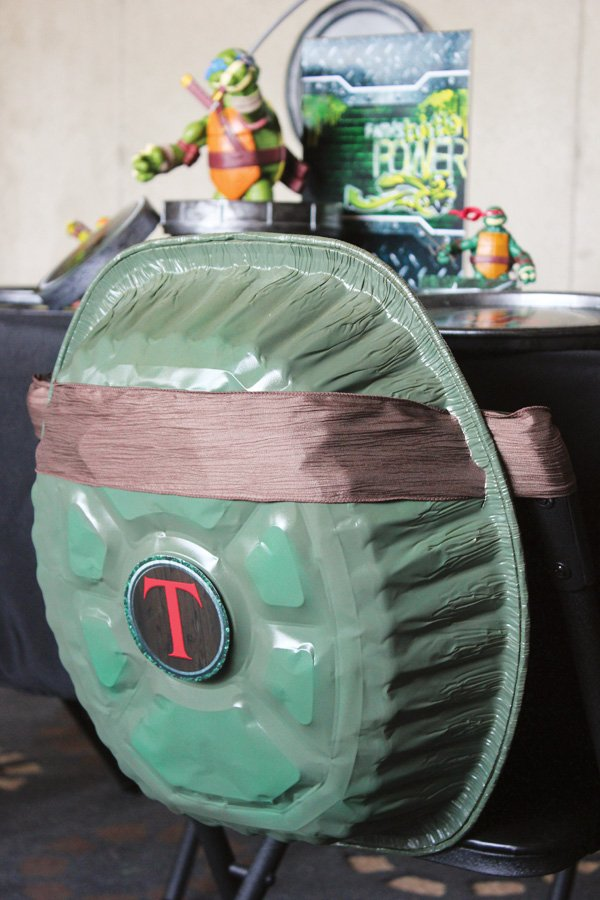 turtle shell chair back and costume diy