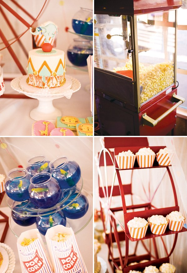 vintage circus theme party food