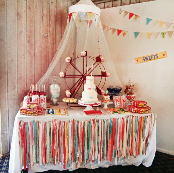 Spectacular vintage circus theme first birthday hostess - Decoracion fiestas vintage ...