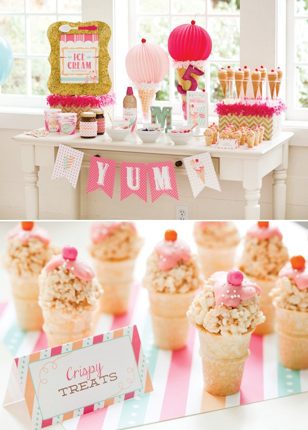 vintage ice cream shoppe party