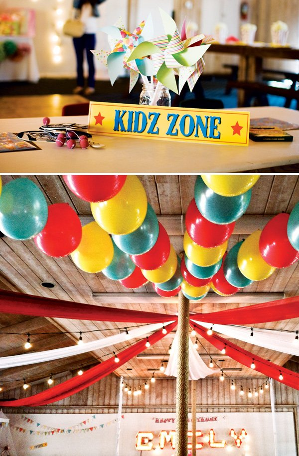 vintage kids circus party