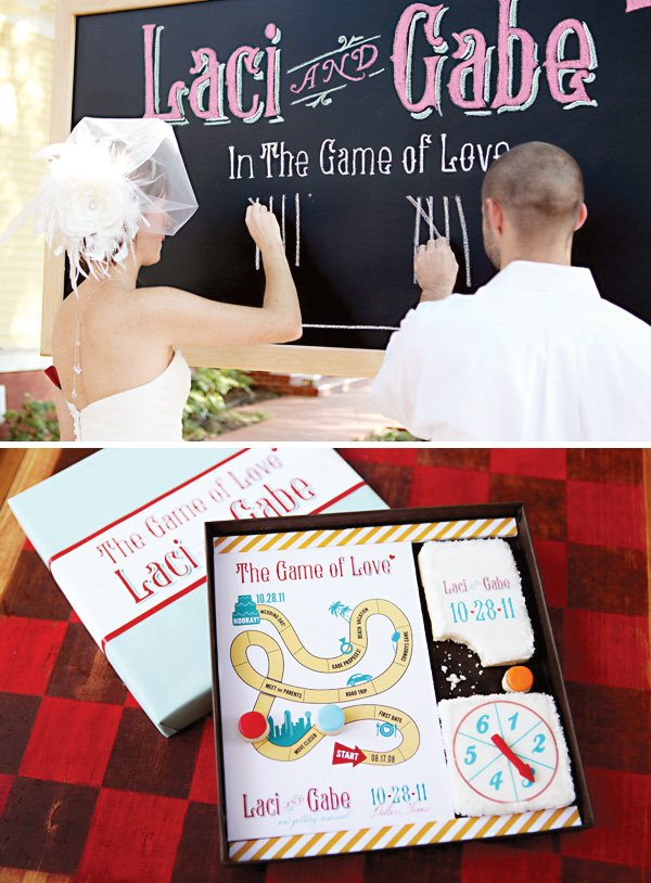 Game of Love vow scoreboard wedding altar