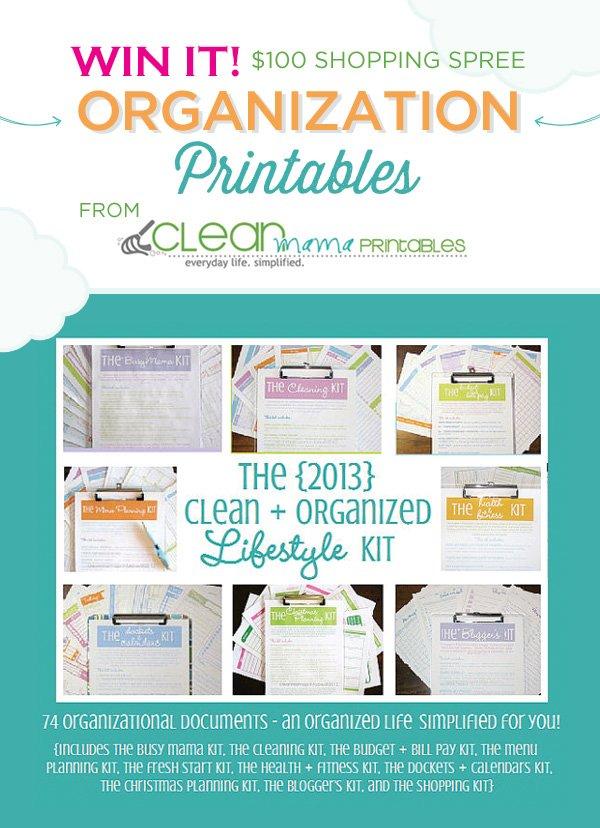 clean mama organization printables