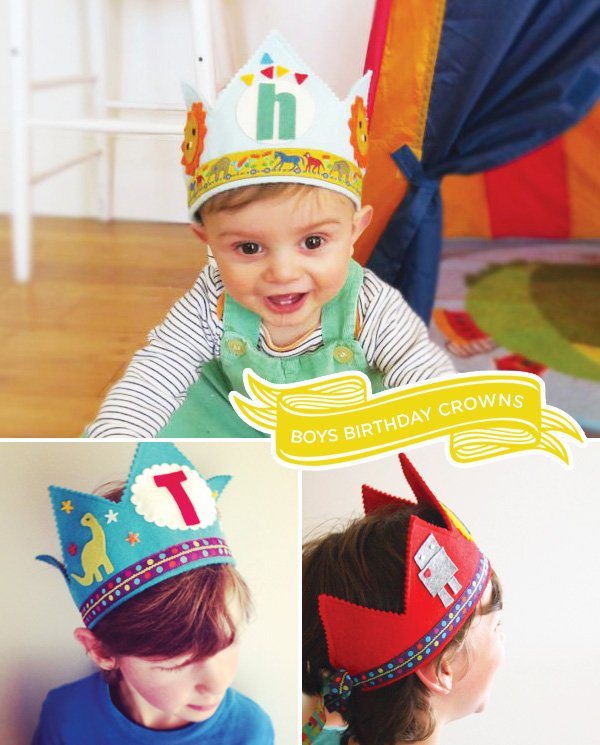 birthday boy crowns