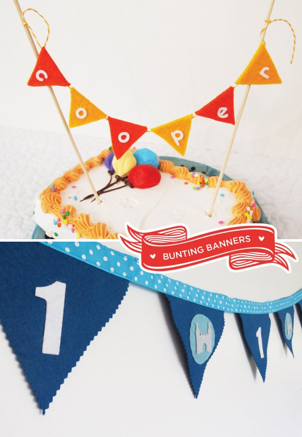 crafted felt bunting banners