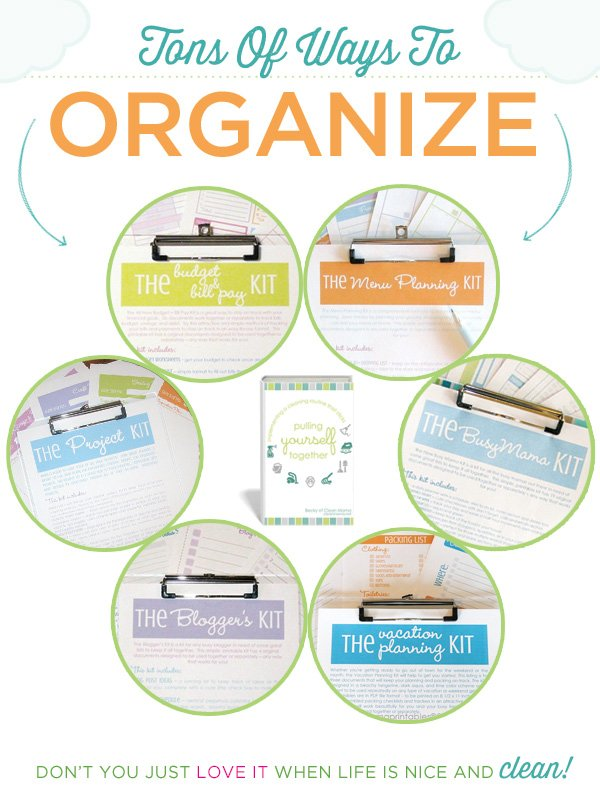 clean mama organization printables