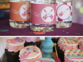 Rockstar-girls-party-record-cupcake-stand-pic_2