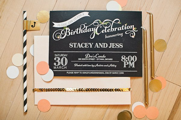 chic party invitation