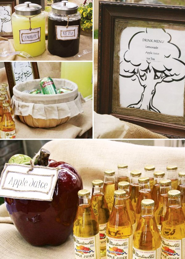 apple juice drink station