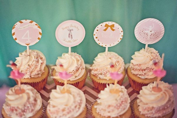 ballerina shimmer cupcakes