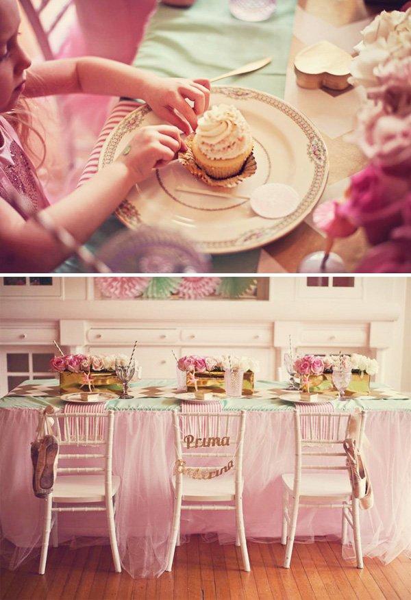 ballerina party table