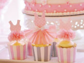 Ballerina Princess cupcakes with tutu toppers