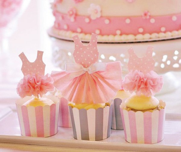 Pink Tutu Inspired Ballerina Birthday Party // Hostess with the Mostess®