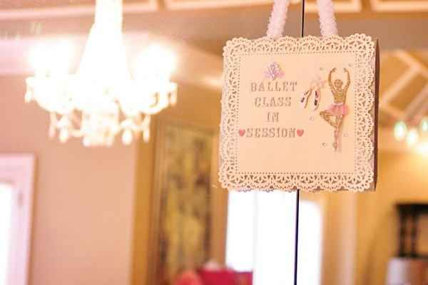 Ballerina party ballet session sign