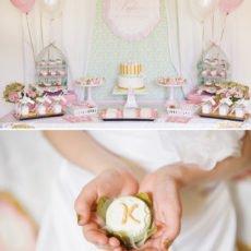 baptism dessert table