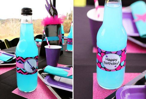 birthday blue drink