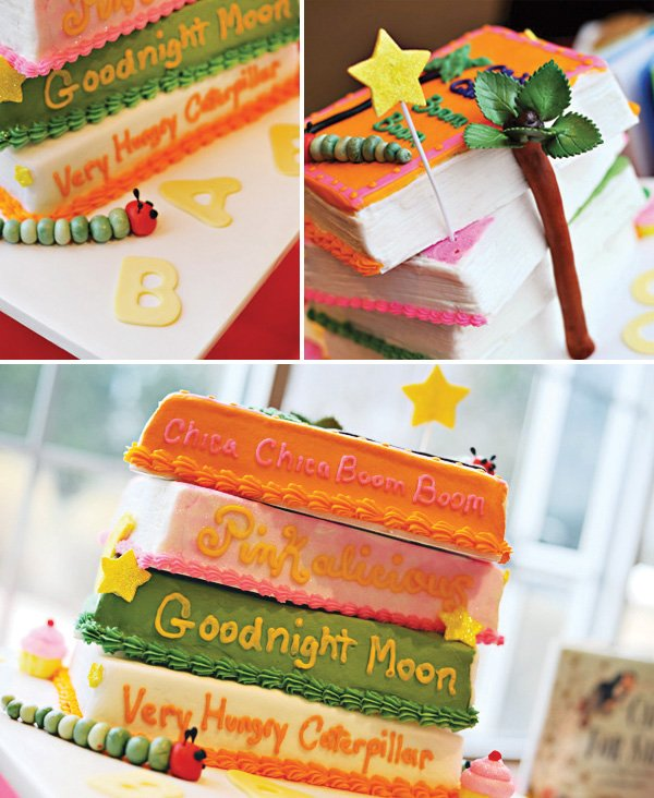 book baby shower cake