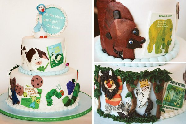 book inspired cake