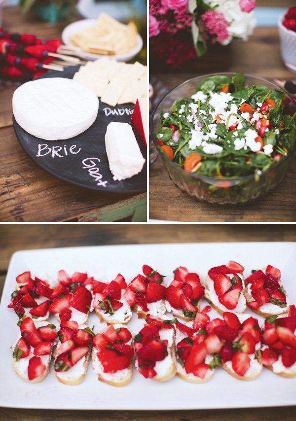 bridal shower lunch ideas