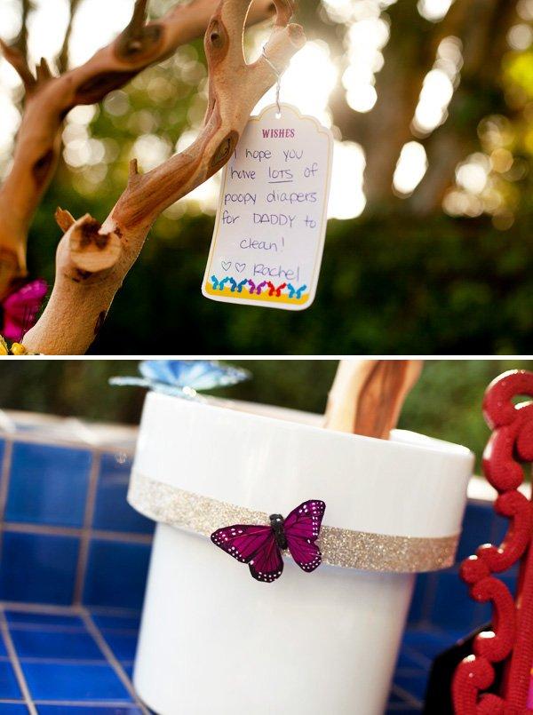 butterfly wishing tree for a festival du bebe baby shower