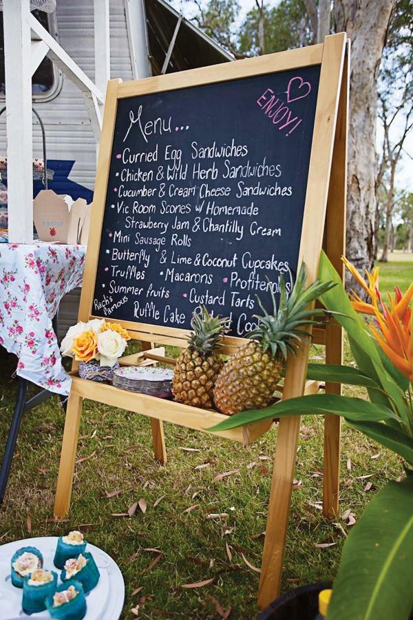 chalkboard easel menu